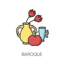 Baroque RGB Color Icon. Tradit...