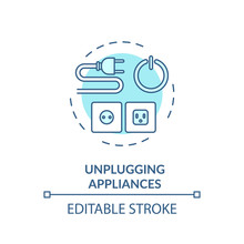 Unplugging Appliance Turquoise...