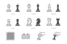Chess Piece Line Icon. Vector ...