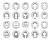 People Avatar Flat Icons. Vect...