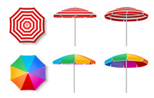 Colorful Beach Umbrella Vector...
