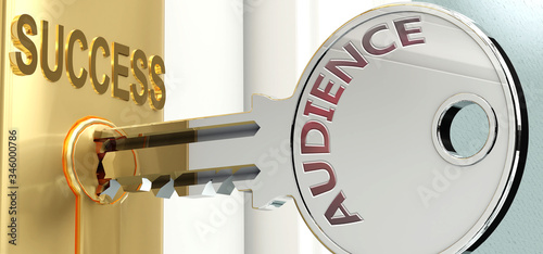 Audience and success - pictured as word Audience on a key, to symbolize that Aud Canvas Print