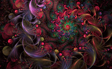 Abstract Fractal Background Fa...
