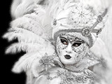 Mysterious masks at the carnival in Venice