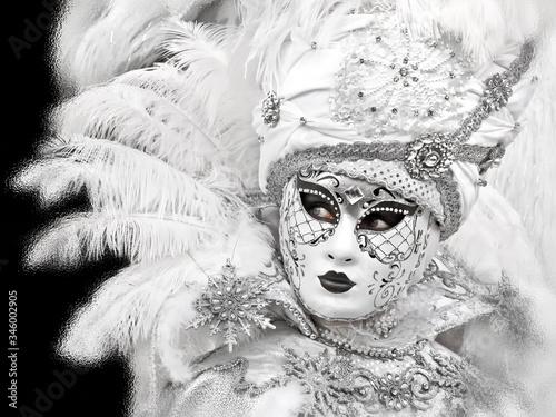 Fototapeta  Mysterious masks at the carnival in Venice obraz