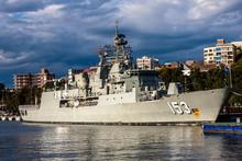 The Anzac-class Frigate HMAS Stuart, Sydney, Australia