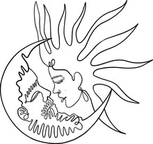 Sun And Moon Man And Woman Yin...