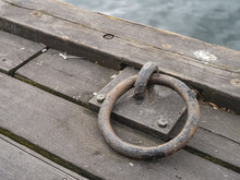 Mooring Equipment On A Wooden ...