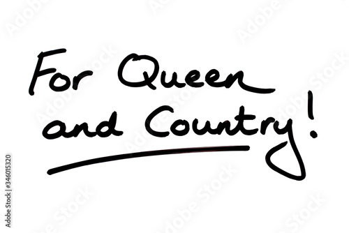 For Queen and Country! Wallpaper Mural