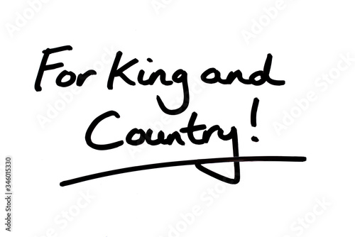 For King and Country! Wallpaper Mural