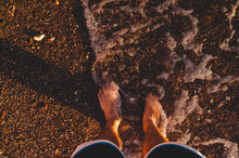 Feet In The Sea. Vacation On T...