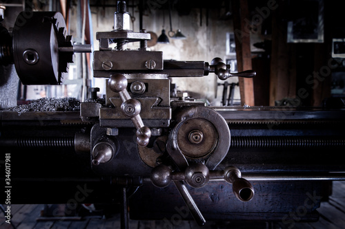 Photo Horizontal turning lathe metal machine