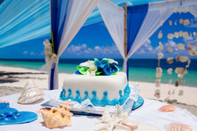 Tropical Wedding Cake For Brid...
