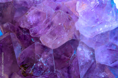Photo Macro detail of an amethyst mineral stone