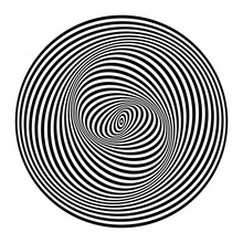 Illusion Of Swirl Movement. Op...