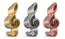 Golden, Silver And Bronze Treb...