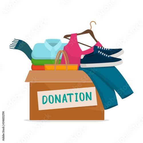 Photo Clothing donation box