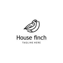 House Finch Bird Logo Design. ...