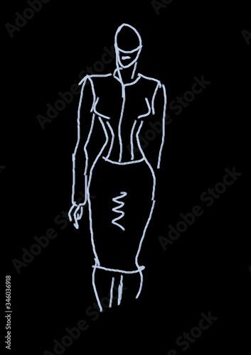 Obraz Sylwetka kobiety - fototapety do salonu
