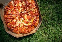 Pepperoni Pizza In A Cardboard...