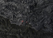 Lava Flow From A Helicopter