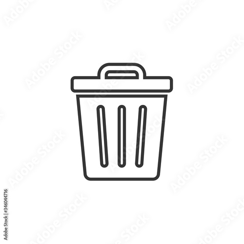 Fototapety, obrazy: delete bin icon vector illustration design