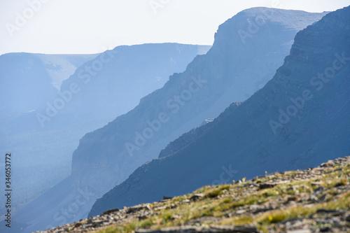 Fényképezés Layers of Mountains in Glacier National Park