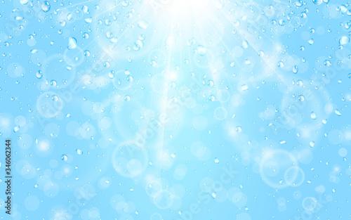 Obraz na plátně 水と光 ベクター素材