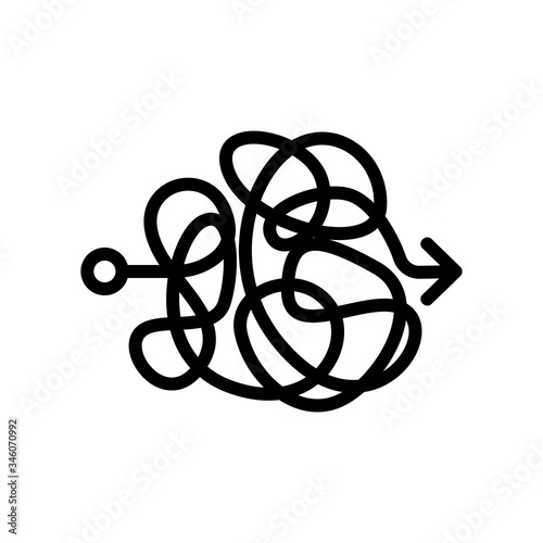 Photo absolute chaos icon vector
