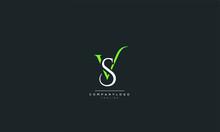 VS SV V S Letter Logo Design I...