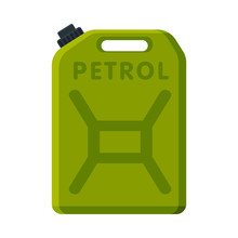 Oil Fuel Jerrycan, Green Canis...