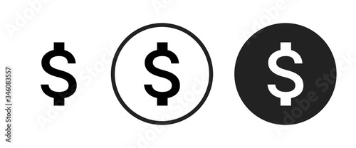 Photo attach money icon