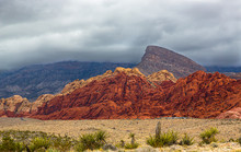 Mountain Landscape In Red Rock...