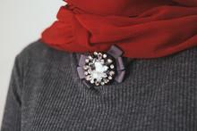 Dress Collar Decoration. Gray ...