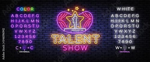 Fotografía Talent Show neon sign vector