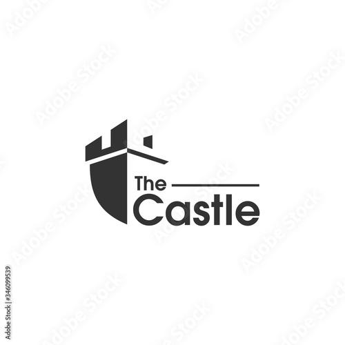 Leinwand Poster castle logo design, palace logo, fortress logo