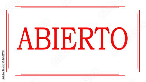 Cuadros en Lienzo Cartel de abierto para comercios y empresas