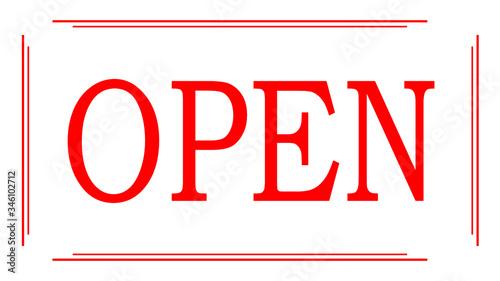 Photo Cartel de abierto para comercios y empresas