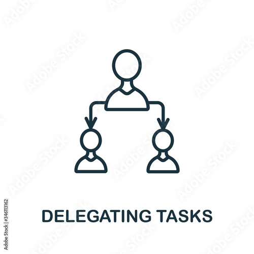 Photo Delegating Tasks icon from production management collection