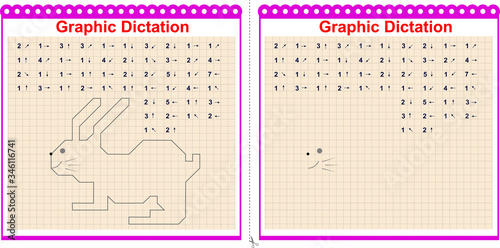 Foto Graphic dictation Copy the graphic image