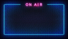 On Air Neon Background. Templa...