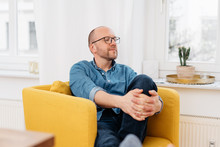 Middle-aged Man Spending A Quiet Moment Alone