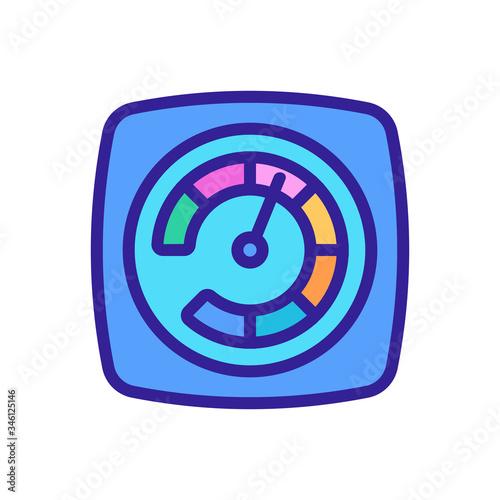 Photo acceleration indicator icon vector