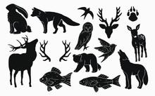 Rustic Nature Icons , Animals,...