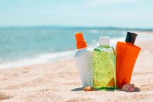 Bottles Of Sun Protection Loti...