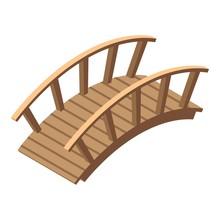 Garden Bridge Icon. Isometric ...