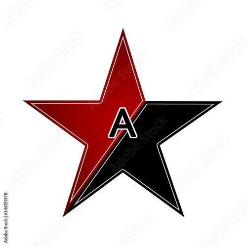 Photo Anarchist red black star