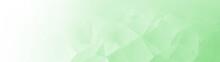 Light Green Wide Banner Backgr...