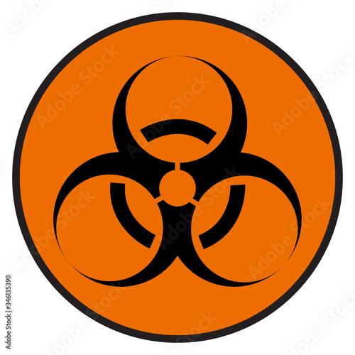 Biological Hazard Symbol, Vector Illustration, Isolate On White Background Label Wallpaper Mural