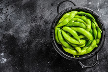 Raw Beans Edamame In The Colan...